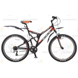 Велосипед Stels Challenger V 26 (2016) Черный/Серый/Оранжевый , интернет-магазин Sportcoast.ru