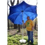 Зонт пляжный Митек ПЭ-240/8 (желтый)