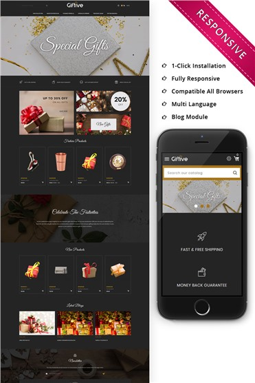 Giftive - The Gift Store Responsive