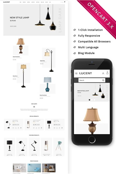Lucent Light Store Responsive Store