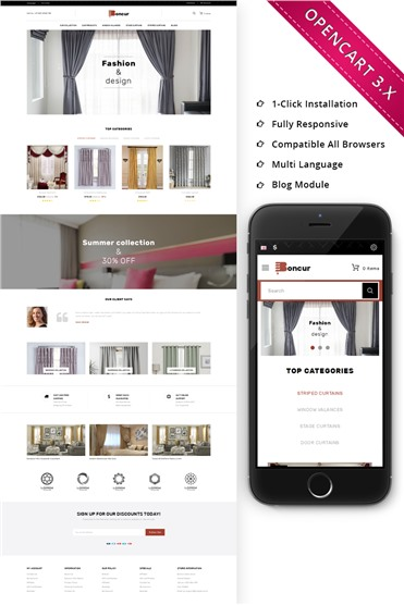 Boncur - The Curtain Shop Responsive