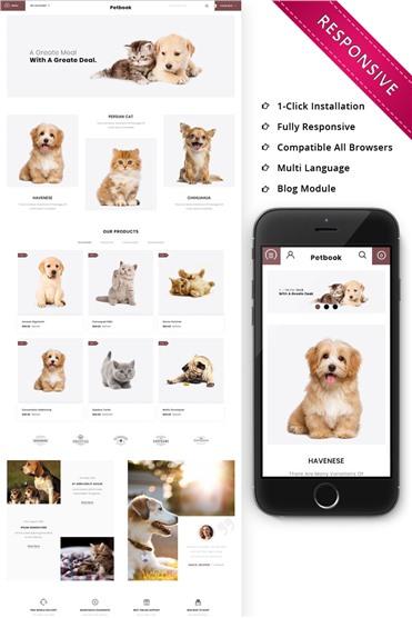 Petbook - Animal Shop Responsive