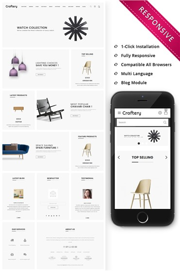 Craftery - The Furniture Store Responsive