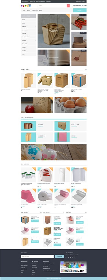 Paper Market - Packaging Responsive