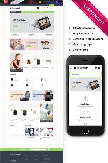 Shopmart - The Mega Store Responsive