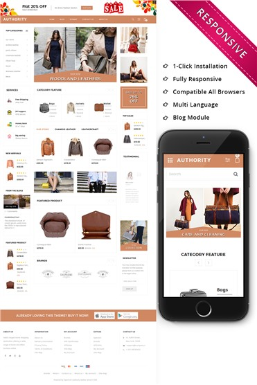 Authority - Leather Store Responsive