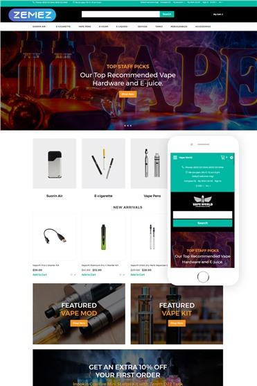 Vape World - E-Cigars Responsive Fancy