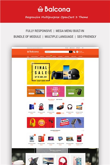Balcona - The Multipurpose Store with Advanced Admin