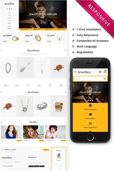 Jewelico - The Jewelry Store Responsive