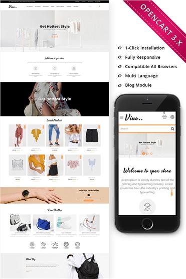 Vino Fashion Store - Responsive