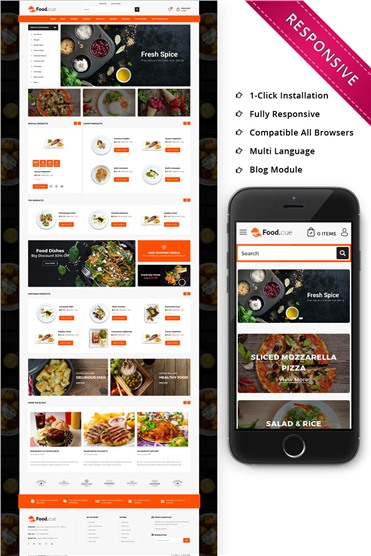 Foodcue - The Fastfood Store Responsive
