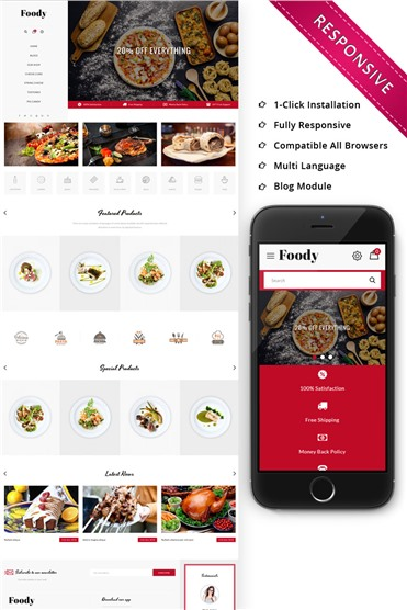 Foody - The Restraunt Store Responsive