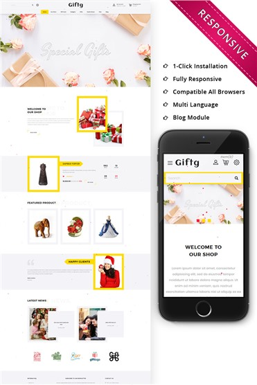 Giftg - The Gift Shop Responsive