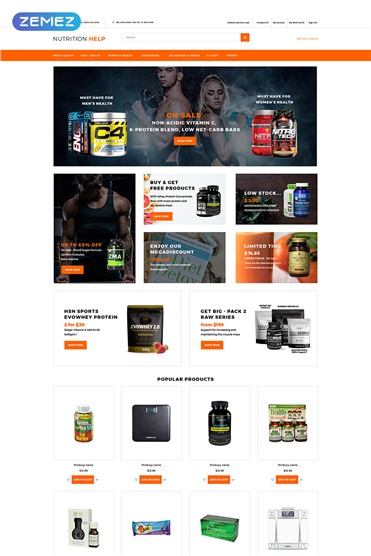 Nutrition Help - Sports Food Store Clean