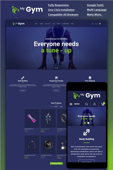 Mygym - Fitness Online Store