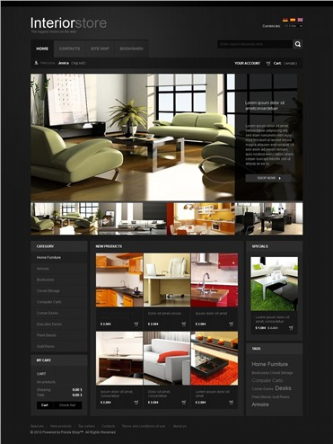 Black Interior Website