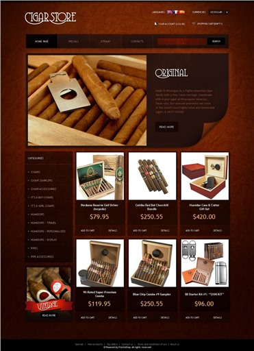 Stylish Cigar Store