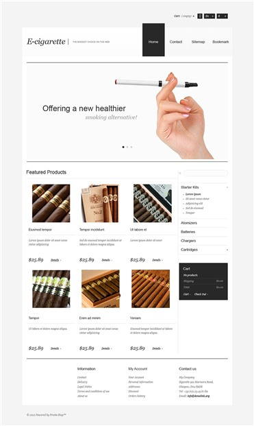 Responsive Electronic Cigarettes Store