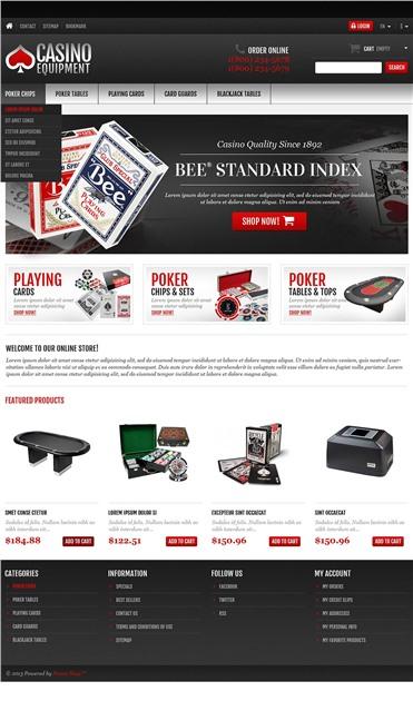Responsive Casino Equipment Store