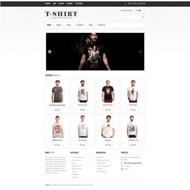 Responsive T-Shirts Store