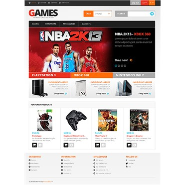 Responsive Games Store