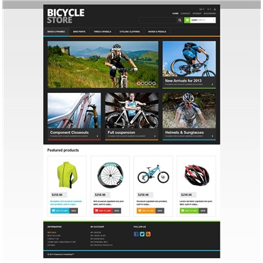 Responsive Bicycle Store