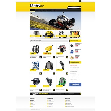 Responsive Online Moto Store