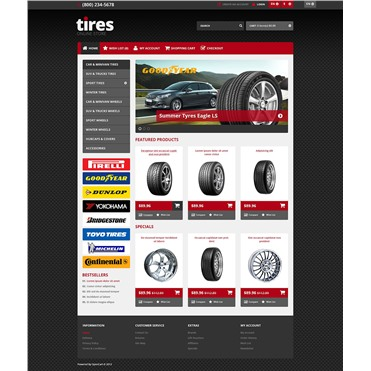 Responsive Tires Store