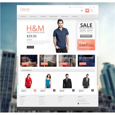 Responsive Casual Clothes Store