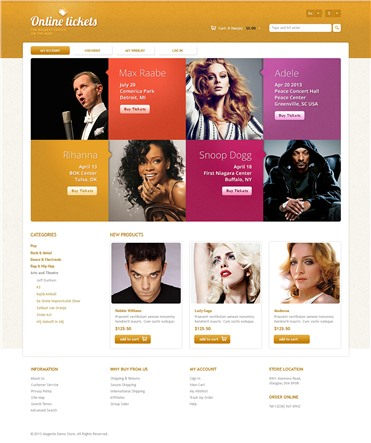 Responsive Online Tickets Store