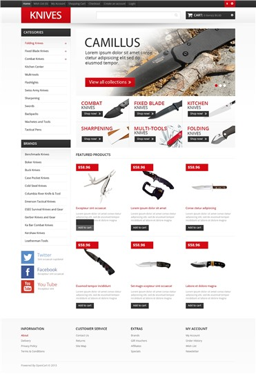 Responsive Knives Store
