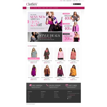 Responsive Plus Size Clothes Store