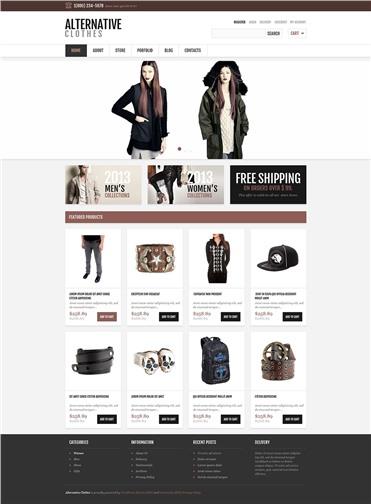 Responsive Alternative Clothes Store