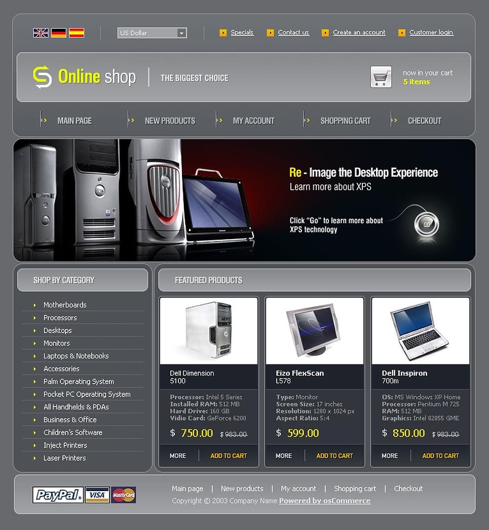 Купить Шаблон Сайта Интернет Магазина