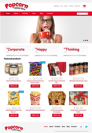 Popcorn Online Store