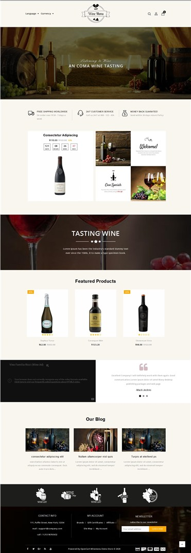 WineMenu - The Wine Shop Responsive