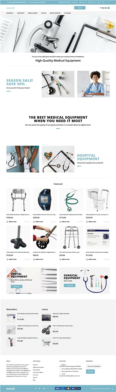 Emed - Medical Equipment Multipage Clean