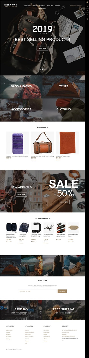 Hiker Way - Travel Store Multipage Modern