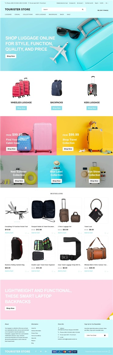 Tourister store - Travel Store Ready-to-use Clean