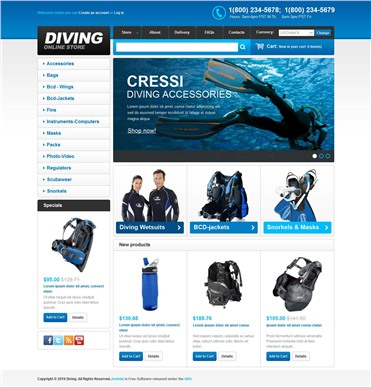 Online Diving Store