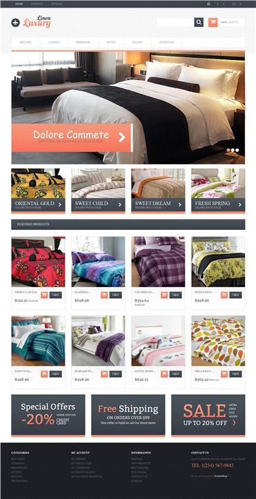 Responsive Linen Store