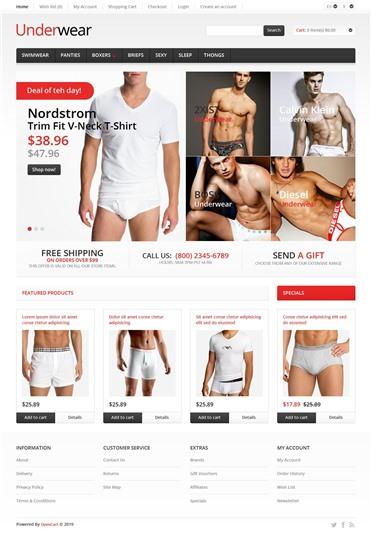 Responsive Underwear Store