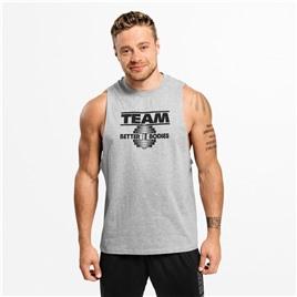 Спортивная майка Better Bodies Team BB Tank, серый меланж