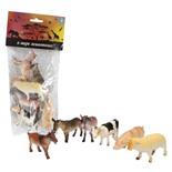 Набор фигурок 1TOY В мире животных Ферма 6 шт Т50553