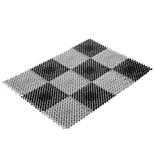 Грязезащитный коврик Vortex Травка 42х56 см черно-серый 23005