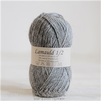 Пряжа Lamauld Серый 6041, 100м/50г, CaMaRose, Gra
