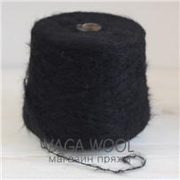 Пряжа Lilu из сури альпака, Чёрный, 130м/50г, Lama Lima