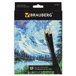 Карандаши цветные Brauberg Artist line 18 цветов 180554