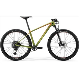Велосипед Merida Big Nine 6000 Matt Olive (Signal Red/Lite Brown) 2018, интернет-магазин Sportcoast.ru