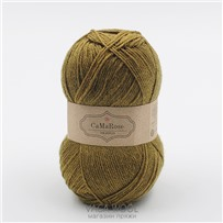 Пряжа Yaku Зеленый с желтым 1844, 200м/50г, CaMaRose, Gron med gult